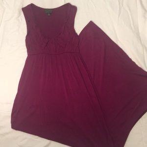 Dresses & Skirts - Purple knit maxi dress Sz $5
